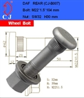 high strength wheel bolt for DAF
